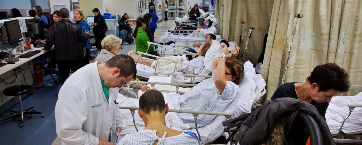 crowded hospital ward